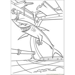 Shark In Boat Free Coloring Page for Kids