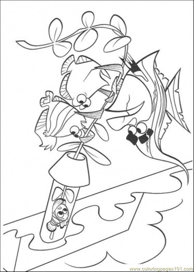 Try To Help Nemo Coloring Page