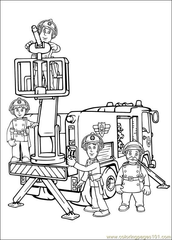 fireman sam 02 coloring page free fireman sam coloring pages