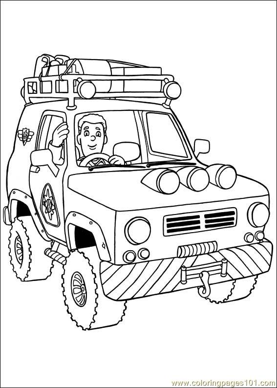 fireman sam 16 coloring page free fireman sam coloring pages
