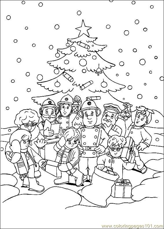 coloring book pages fireman - photo#10