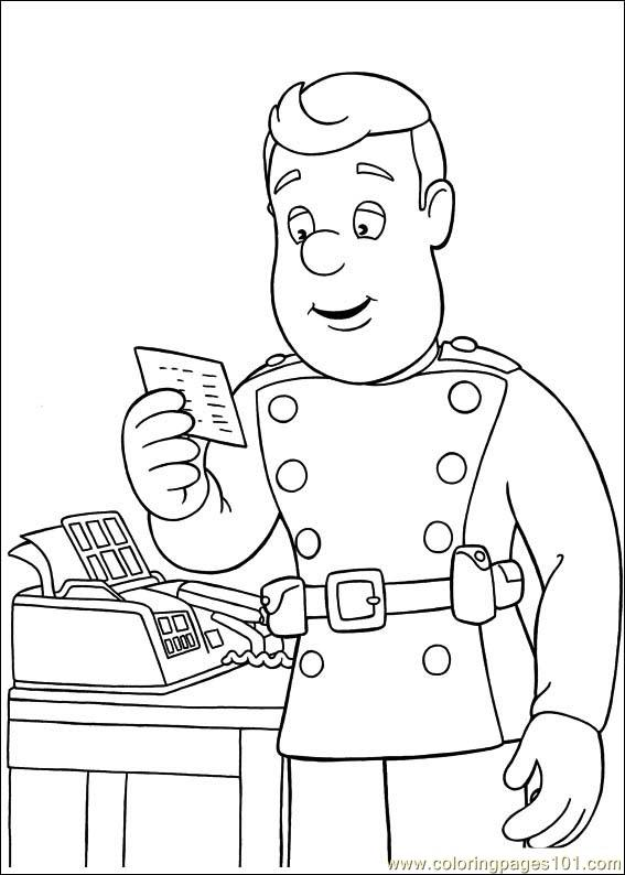 Fireman Sam 26 Coloring Page Free Fireman Sam Coloring Pages