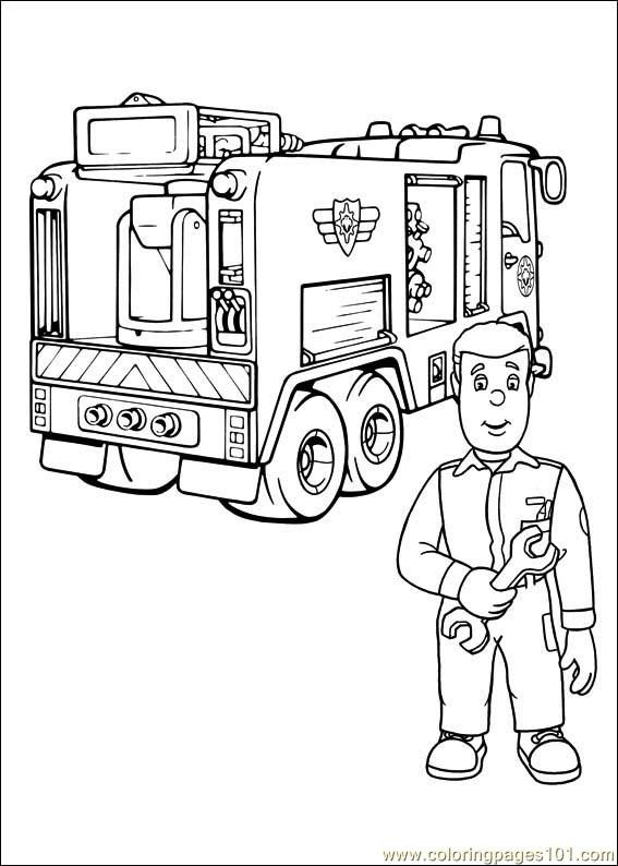 Fireman Sam 27 Coloring Page Free Fireman Sam Coloring Pages