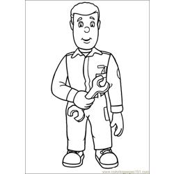 Fireman Sam 18 Free Coloring Page for Kids
