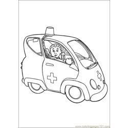 Fireman Sam 19 Free Coloring Page for Kids