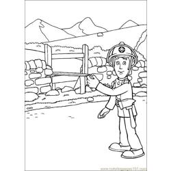 Fireman Sam 21 Free Coloring Page for Kids