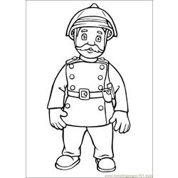 Fireman Sam 22 Free Coloring Page for Kids