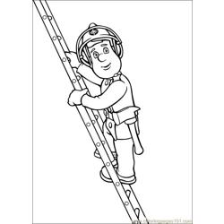 Fireman Sam 23 Free Coloring Page for Kids
