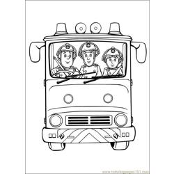 Fireman Sam 24 Free Coloring Page for Kids