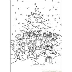 Fireman Sam 25 Free Coloring Page for Kids