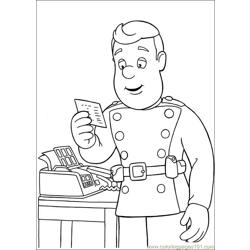 Fireman Sam 26 Free Coloring Page for Kids