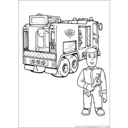 Fireman Sam 27 Free Coloring Page for Kids