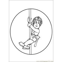 Fireman Sam 29 Free Coloring Page for Kids