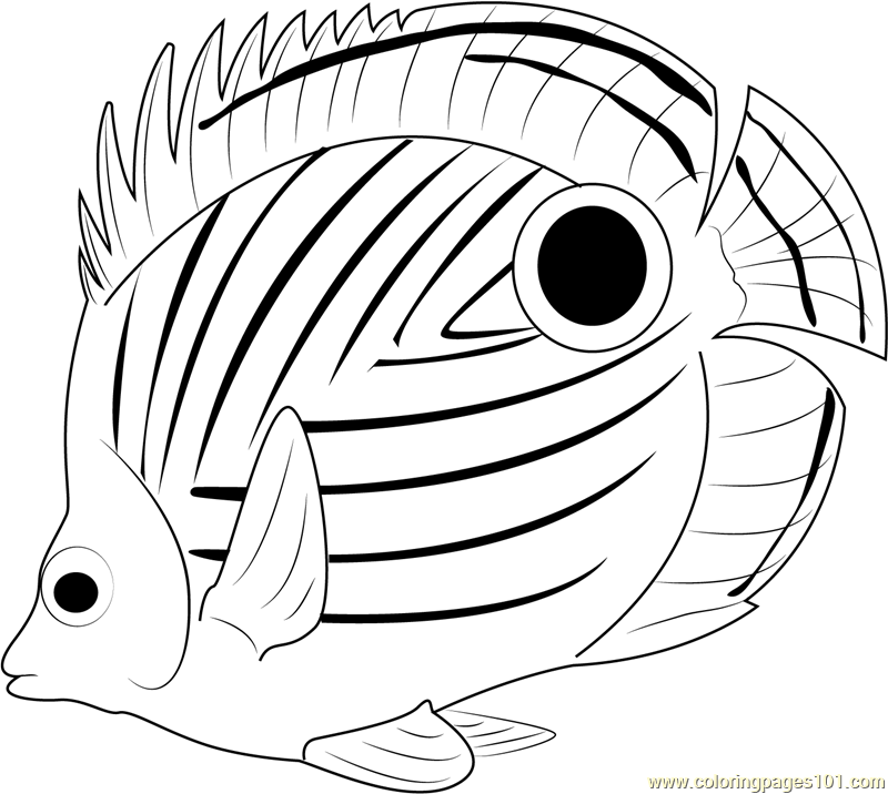 black dot fish coloring page free other fish coloring pages coloringpages101com