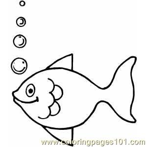 Fish Making Bubbles Coloring Page Free Other Fish Coloring Pages