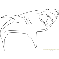 Angry Shark coloring page
