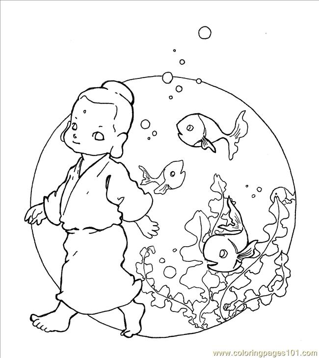 Buddha Fish Coloring Page Free Other Fish Coloring Pages