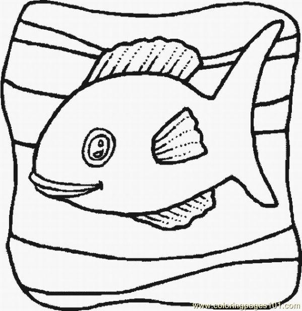 Fish 1 Lrg Coloring Page