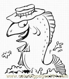 Fish Coloring Pages 1 Med Coloring Page