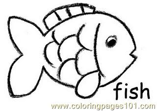 fish crayon coloring page