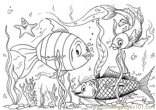 Fish Dm2885 Coloring Page