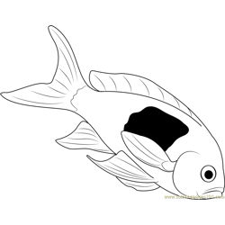 Dead Fish Free Coloring Page for Kids