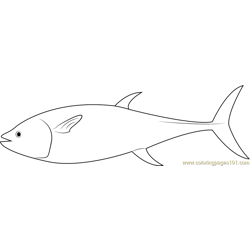 Long Fish Free Coloring Page for Kids