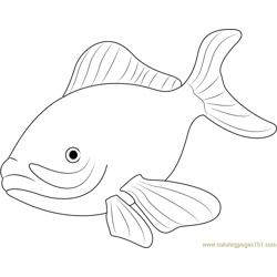 Sea Fish Free Coloring Page for Kids
