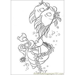 Riding Fishes Coloring Page