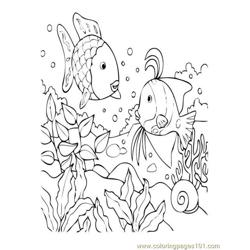 Tropical Fish Coral Reef 02 Free Coloring Page for Kids