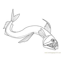 New shape fish Free Coloring Page for Kids