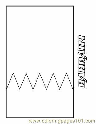 Bahrain Coloring Page Free Flags Coloring Pages