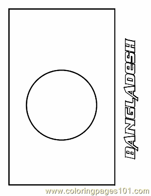 Bangladesh Coloring Page Free Flags Coloring Pages