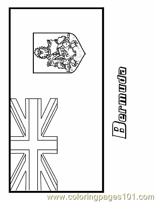 Bermuda coloring page free flags coloring pages for Bermuda flag coloring page