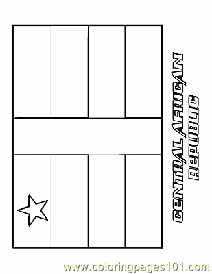 Central african republic coloring page free flags for Africa flag coloring page