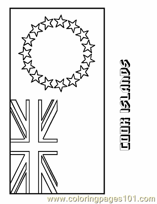 Cook Islands Coloring Page Free