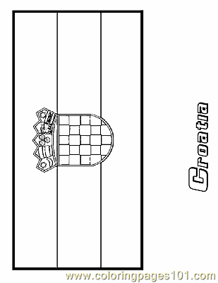 Croatia Coloring Page Free Flags Coloring Pages