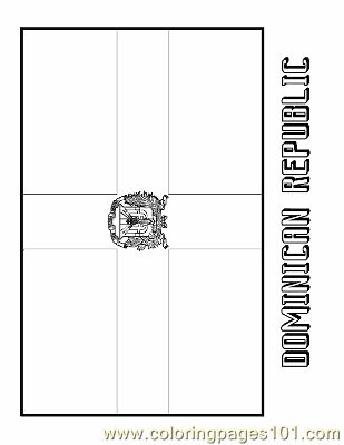 Dominican Republic Coloring Page Free Flags Coloring