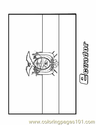 Ecuador Coloring Page Free Flags Coloring Pages Zambia Flag Coloring Page
