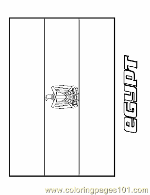 Egypt Coloring Page Free Flags Coloring Pages ColoringPages101com