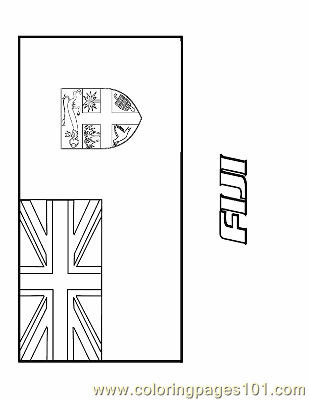 Fiji Coloring Page Free Flags