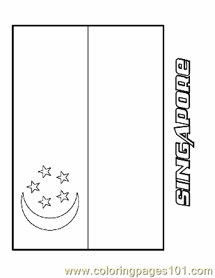 Singapore Coloring Page