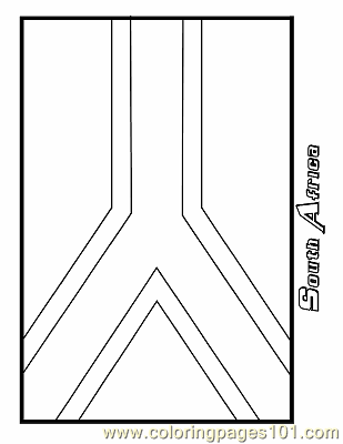 South Africa Sheet Coloring Page - Free Flags Coloring ...