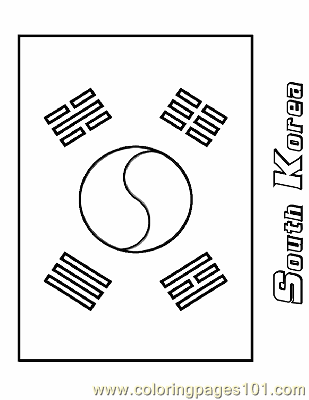 South Korea Coloring Page Free Flags Coloring Pages