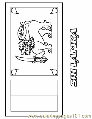 Sri lanka coloring page free flags coloring pages for Sri lanka flag coloring page