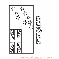 Tuvalu coloring page