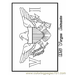 Us Virgin Islands Free Coloring Page for Kids