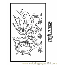 Wales Free Coloring Page for Kids