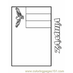 Zambia coloring page