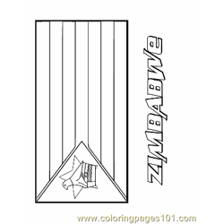 Zimbabwe Free Coloring Page for Kids